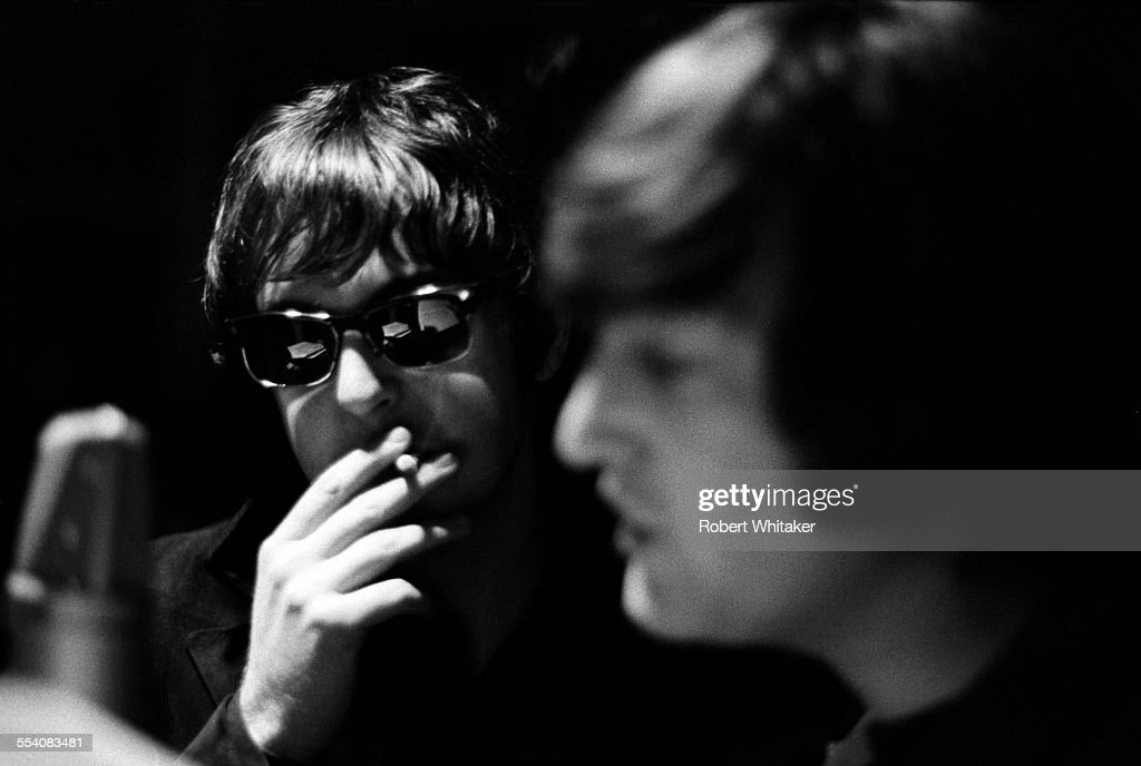 Paul McCartney and John Lennon of The Beatles pictured during the ...