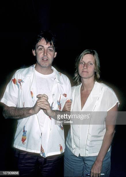 Paul McCartney and Linda McCartney during Paul McCartney and Linda McCartney Sighting at West Lake Studios April 16 1982 at West Lake Studios in West...