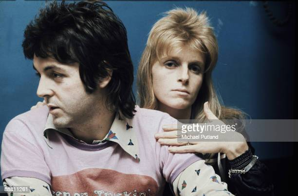 Paul McCartney and Linda McCartney of pop group Wings London 21st November 1973