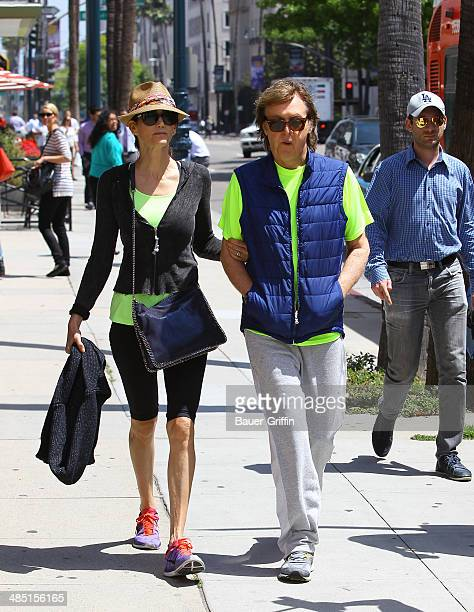 Paul McCartney and Nancy Shevell are seen on April 16 2014 in Los Angeles California