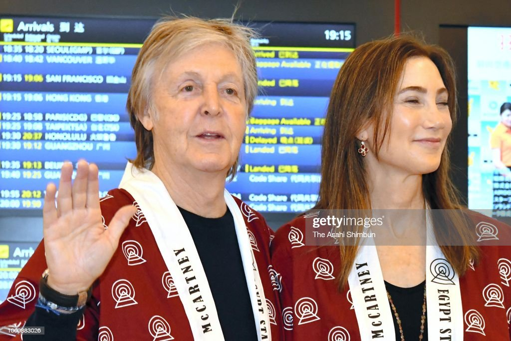 Paul McCartney Arrives In Tokyo : News Photo