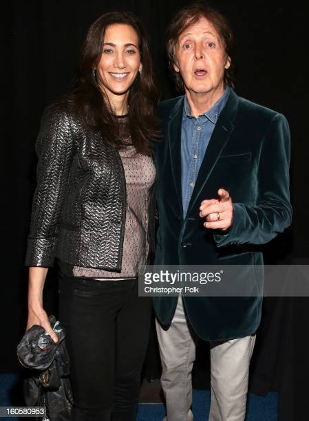 Paul McCartney and Nancy Shevell attend DIRECTV Super Saturday Night Featuring Special Guest Justin Timberlake CoHosted By Mark Cuban's AXS TV on...