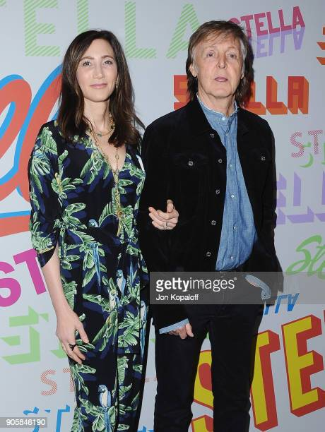 Paul McCartney and Nancy Shevell attend Stella McCartney's Autumn 2018 Collection Launch on January 16 2018 in Los Angeles California