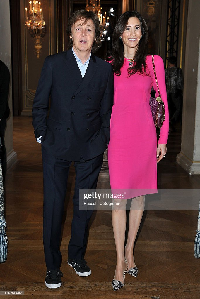Paul McCartney And Nancy Shevell Attend The Stella Ready To Wear Fall