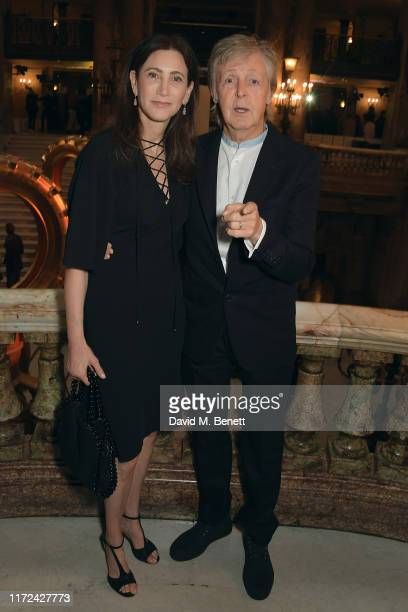Paul McCartney and Nancy Shevell attend the Stella McCartney Womenswear Spring/Summer 2020 show as part of Paris Fashion Week on September 30, 2019...