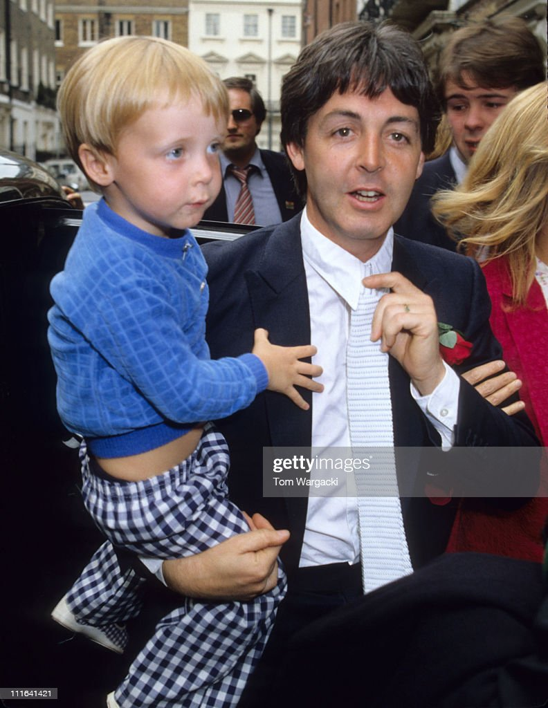 Paul McCartney And Son James At Rags Club Mayfair For Ringo Starr Barbara Bach Wedding