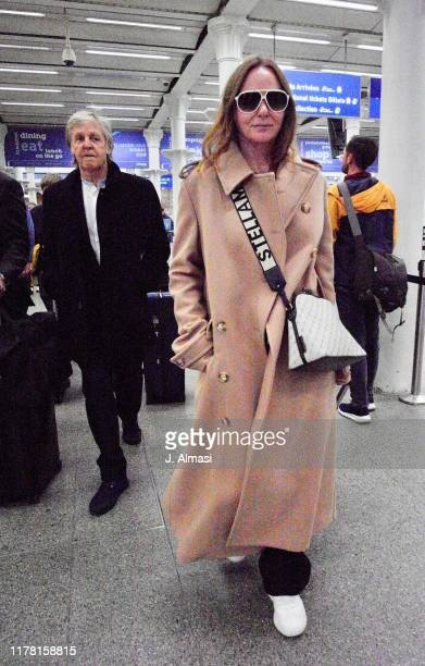 Paul McCartney and Stella McCartney arriving at Kings Cross St Pancras from Paris on September 30, 2019 in London, England.