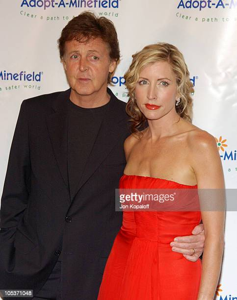 Paul McCartney and wife Heather Mills McCartney during 4th Annual AdoptAMinefield Gala at Century Plaza Hotel in Century City California United States