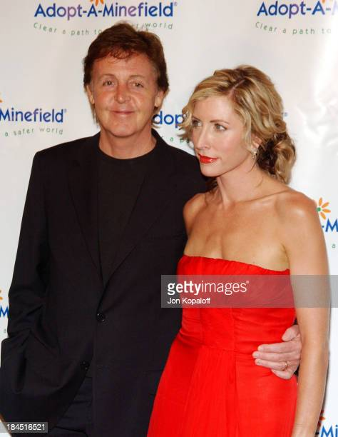 Paul McCartney And Wife Heather Mills During 4th Annual AdoptAMinefield Gala At Century Plaza Hotel