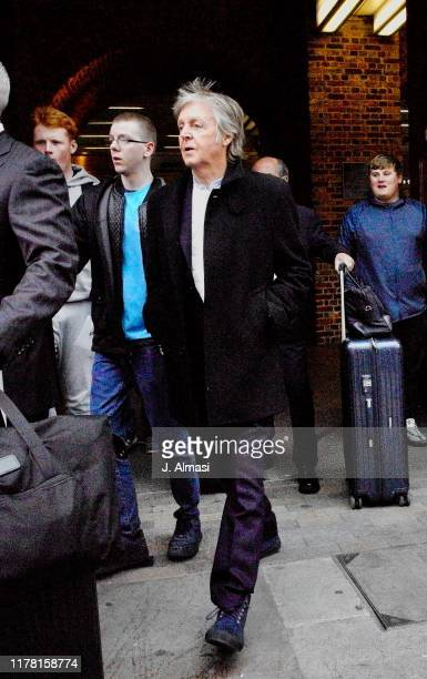 Paul McCartney arriving at Kings Cross St Pancras from Paris on September 30 2019 in London England