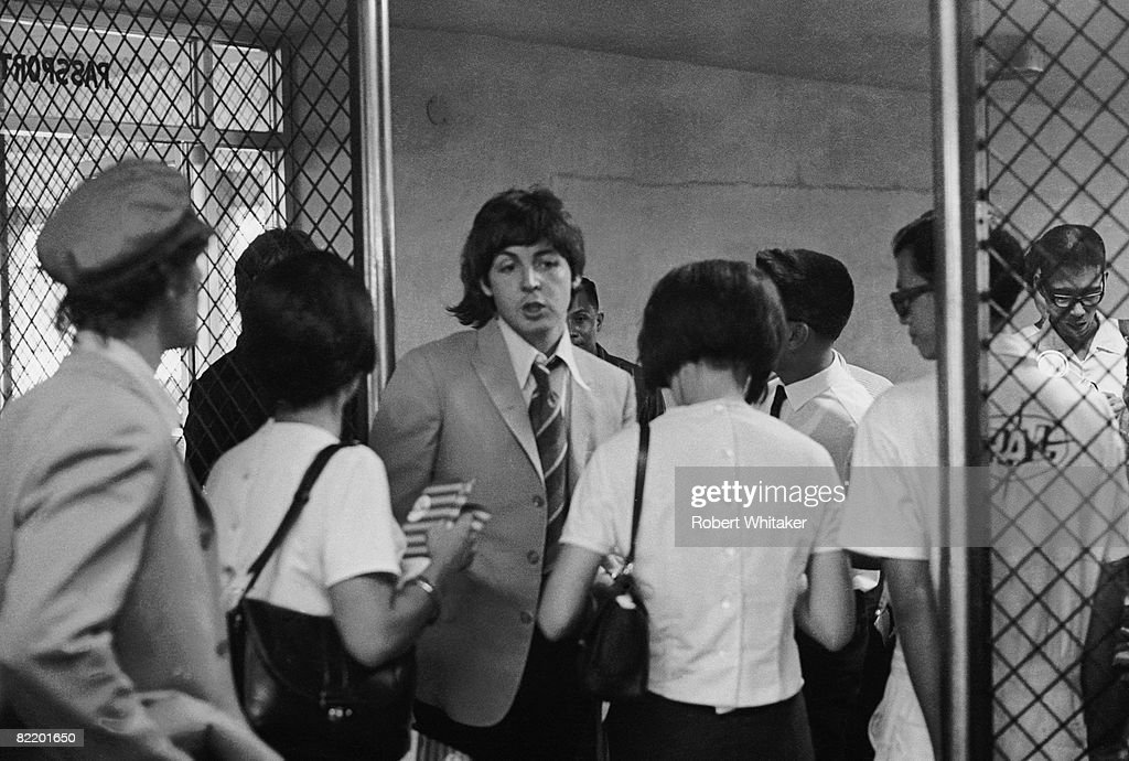 Paul McCartney at Manila International Airport after the Philippines leg of the Beatles' final world tour, 5th July 1966. The group made a hasty exit from the country after a perceived snub on President Ferdinand Marcos and his wife Imelda resulted in official hostility, including the withdrawal of police protection for the group.