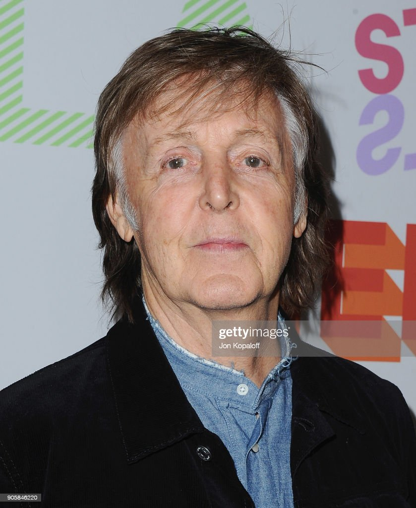 Paul McCartney attends Stella McCartney's Autumn 2018 Collection Launch on January 16, 2018 in Los Angeles, California.