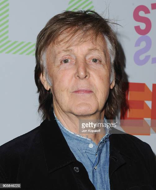 Paul McCartney attends Stella McCartney's Autumn 2018 Collection Launch on January 16 2018 in Los Angeles California