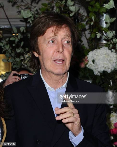 Paul McCartney attends the launch of Mary McCartney's cook book 'FOOD by Mary McCartney' at Liberty on May 3, 2012 in London, England.