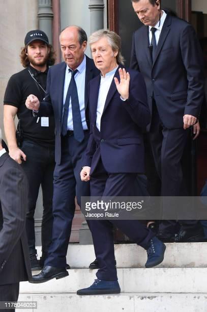 Paul McCartney attends the Stella McCartney Womenswear Spring/Summer 2020 show as part of Paris Fashion Week on September 30 2019 in Paris France