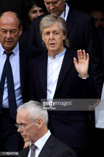 Paul McCartney attends the Stella McCartney Womenswear Spring/Summer 2020 show as part of Paris Fashion Week on September 30, 2019 in Paris, France.