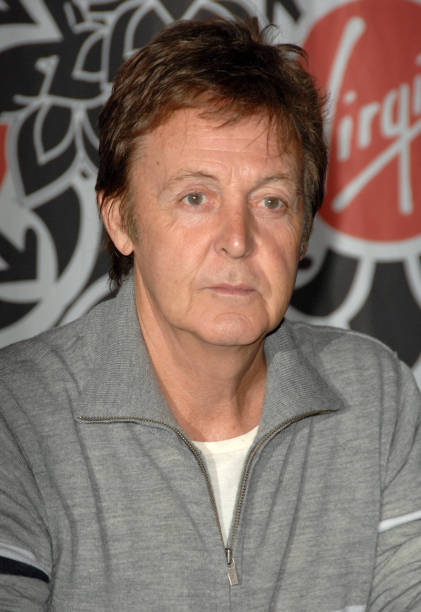 Paul McCartney During Signs His DVD The Space Within Us And
