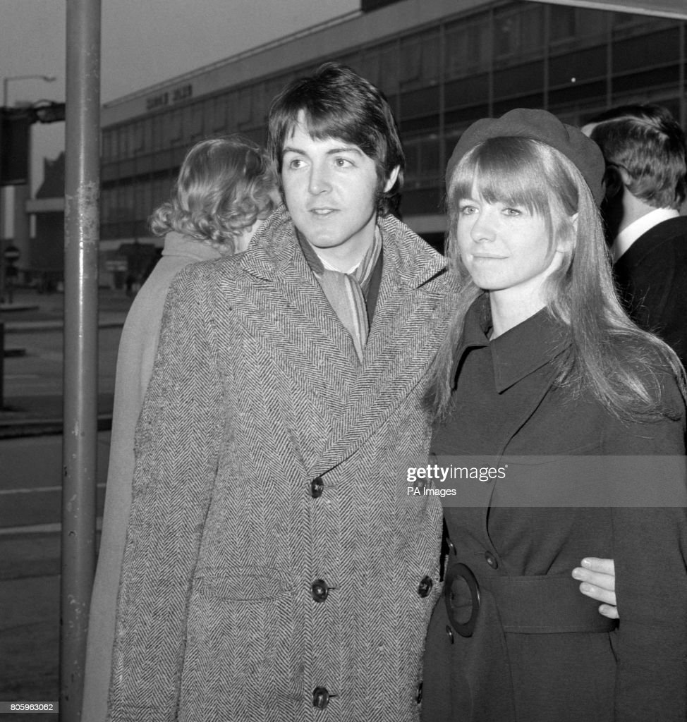 Paul McCartney From The Beatles With His Girlfriend Jane Asher At Heathrow Airport When