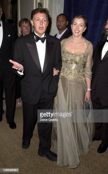 Paul McCartney & Heather Mills during 1st Annual Dinner & Humanitarian Award Presentation Benefiting The Adopt-A-Minefield Program at The Regent...