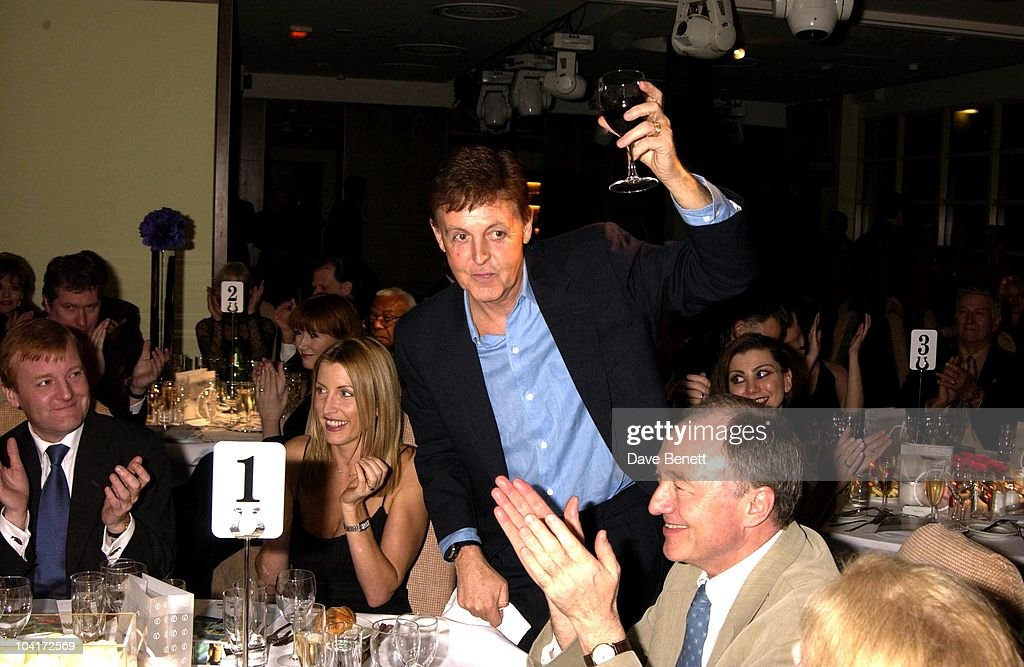 Paul Mccartney & Heather Mills, Richard Branson Party For The Newyork Mayor Rudolph Giuliani To Celebrate His Knighthood, Babylon Resaurant, Roof Gardens, Kensington.