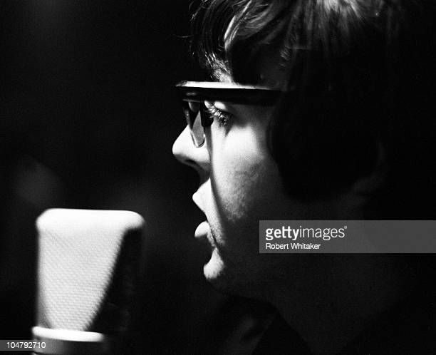 Paul McCartney is pictured during the recording of The Beatles annual Christmas message to their fan club at Marquee Studios in central London 19th...