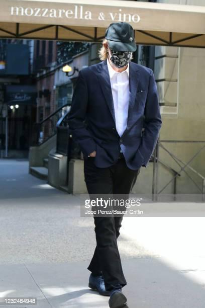 Paul McCartney is seen on April 23, 2021 in New York City.