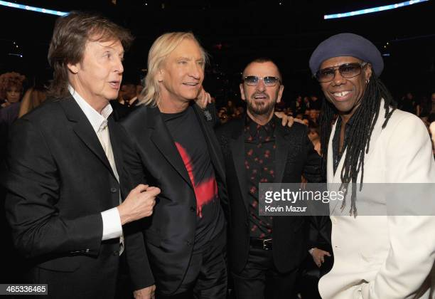 Paul McCartney Joe Walsh Ringo Starr and Nile Rogers attends the 56th GRAMMY Awards at Staples Center on January 26 2014 in Los Angeles California