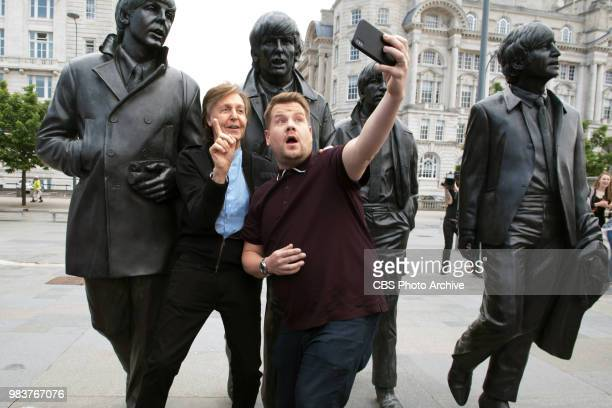 Paul McCartney joins James Corden for Carpool Karaoke in London on THE LATE LATE SHOW WITH JAMES CORDEN scheduled to air Thursday June 21st 2018 on...