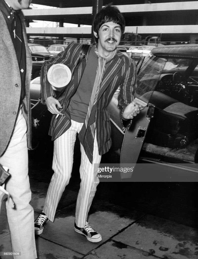 Paul McCartney London Heathrow Airport 13th April 1967 Returns From America Where