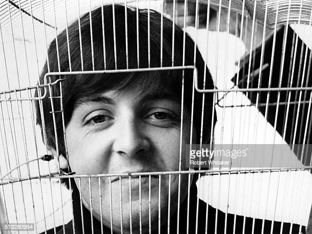 Paul McCartney of The Beatles in an outtake from the cover session for the 'Yesterday & Today' album, Vale Studios, Chelsea, London, 25th March 1966.