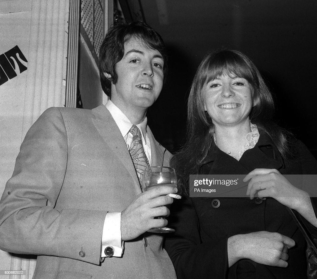 Paul Mccartney Of The Beatles Is Shown With His Actress Girlfriend Jane Asher At Grapefruit