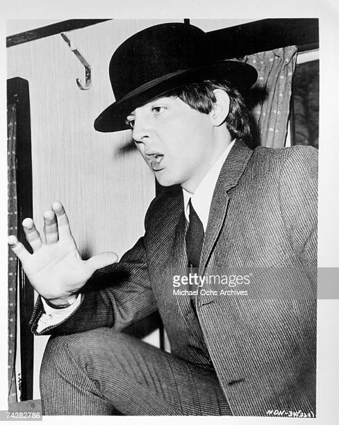 Paul McCartney of the rock and roll band 'The Beatles' in a still from the movie 'A Hard Day's Night' which was released on August 11 1964