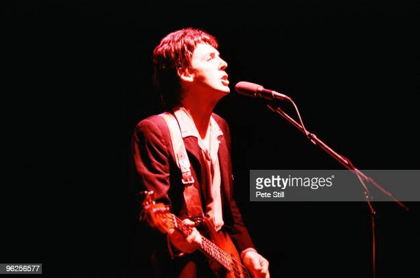 Paul McCartney of Wings performs on stage at The Lewisham Odeon on December 3rd 1979 in London United Kingdom