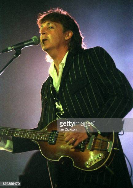 Paul McCartney performing on stage at Earls Court London 14 September 1993