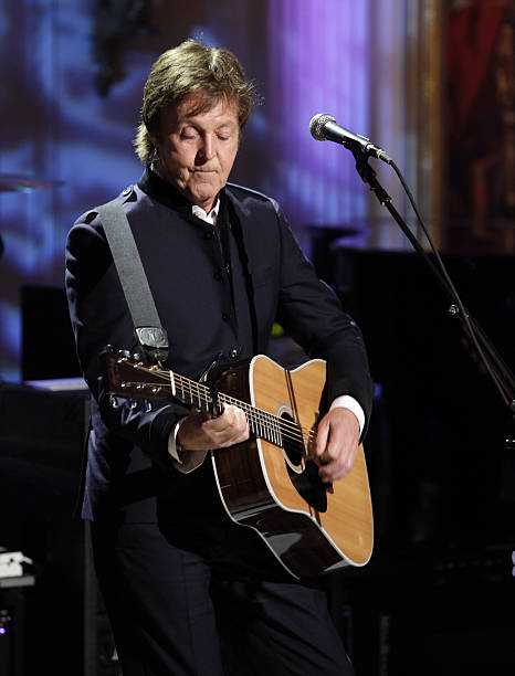 Paul McCartney Performs After Being Awarded By US President Barack Obama With The Third Gershwin Prize
