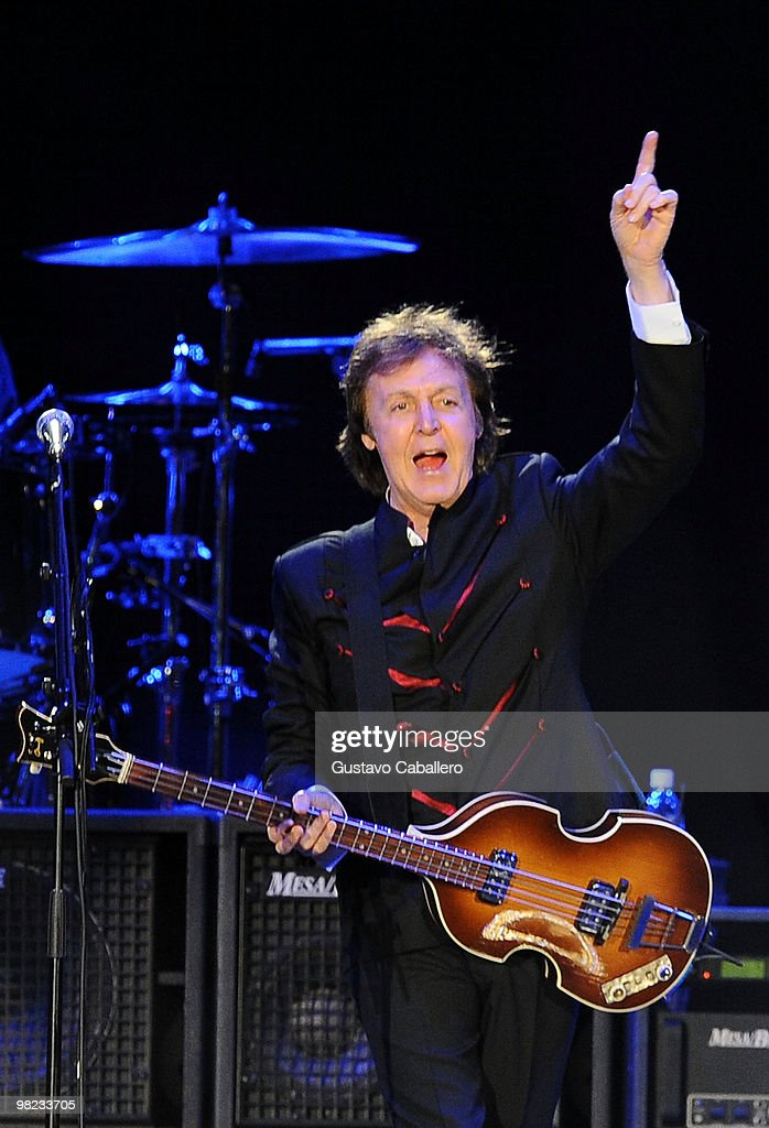 Paul McCartney Performs At Sun Life Stadium On April 3 2010 In Miami Florida