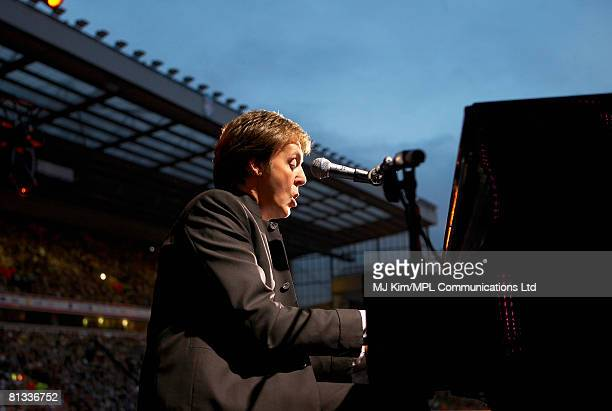 Paul McCartney performs during the Liverpool Sound concert held at Anfield Stadium on June 1 2008 in Liverpool England