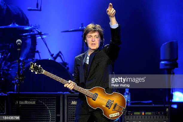 Paul McCartney performs on stage at the LanxessArena on December 01 2011 in Cologne Germany