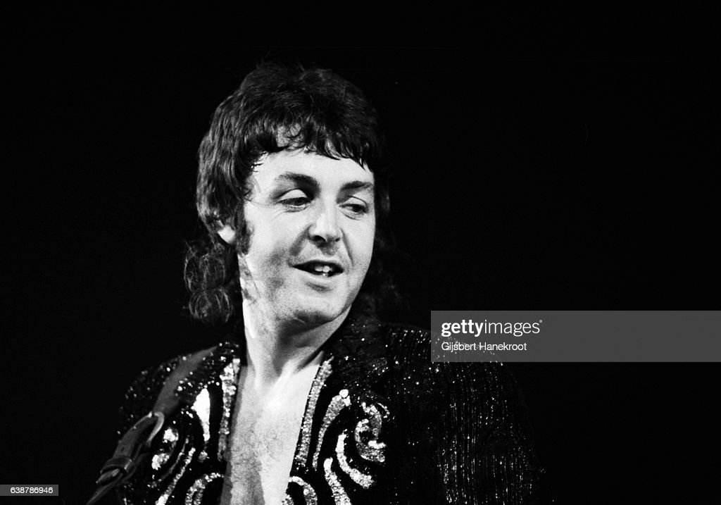 Paul McCartney Performs On Stage With Wings Netherlands August 1972