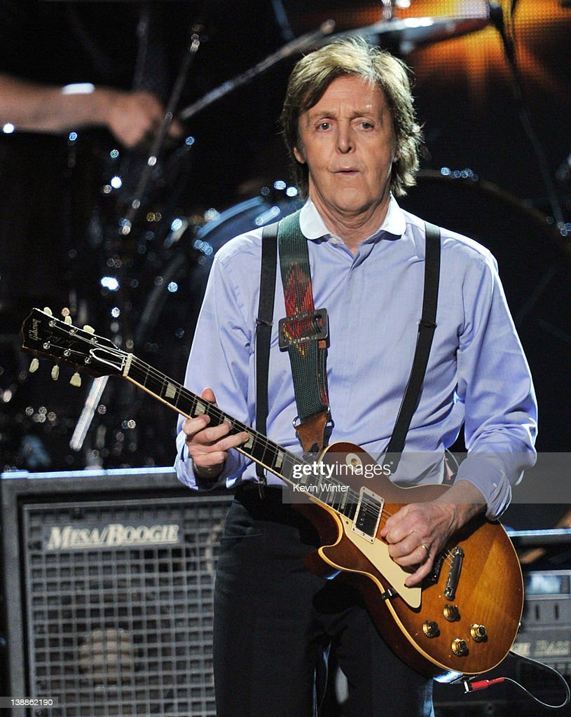 Paul McCartney performs onstage at the 54th Annual GRAMMY Awards held at Staples Center on February 12, 2012 in Los Angeles, California.