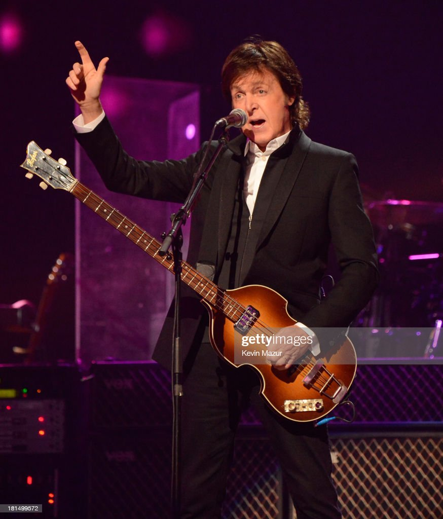 Paul McCartney performs onstage during the iHeartRadio Music Festival at the MGM Grand Garden Arena on September 21, 2013 in Las Vegas, Nevada.