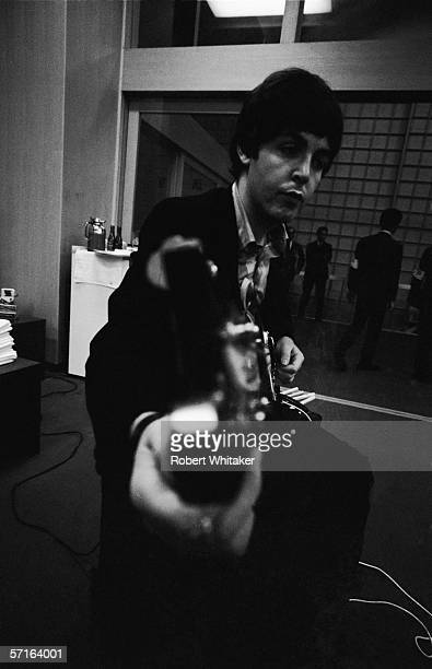 Paul McCartney prepares for a concert in Tokyo during the Beatles' Asian tour 1966