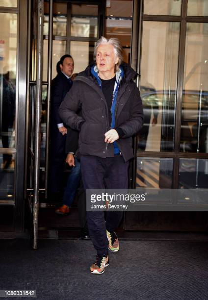 Paul McCartney seen on the streets of Manhattan on January 22 2019 in New York City
