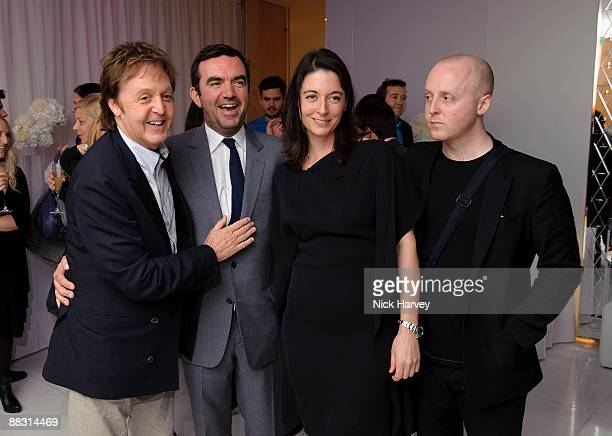Paul McCartney Simon Aboud Mary McCartney and James McCartney attend the launch party of publication 'Told The Art Of Story' at St Martins Lane Hotel...