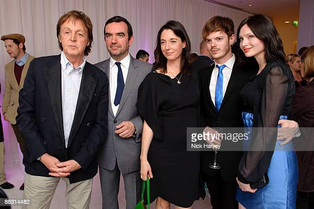 Paul McCartney Simon Aboud Mary McCartney Richard Jones and Sophie Ellis Bextor attend the launch party of publication 'Told The Art Of Story' at St...