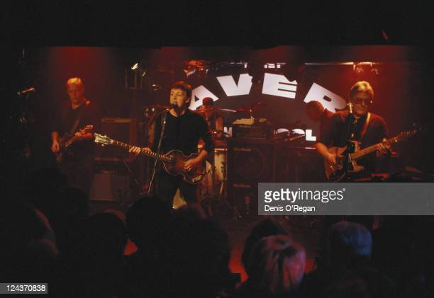 Paul McCartney with his allstar band at their concert at the Cavern Club Liverpool 14th December 1999 Left to right David Gilmour McCartney Ian Paice...