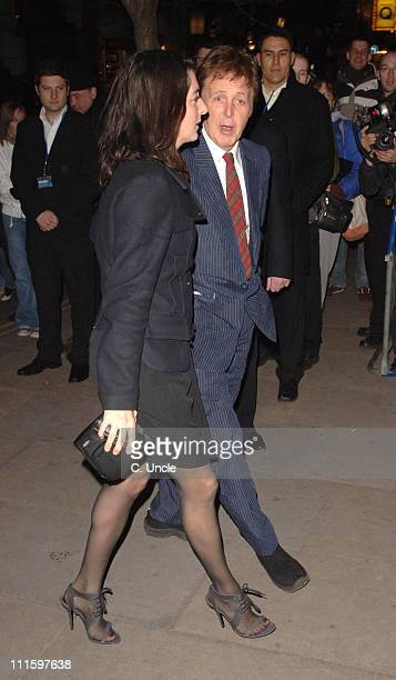 Paul McCartney with his daughter Mary McCartney during 2007 Burns Night Party Arrivals at St Martins Lane Hotel in London Great Britain