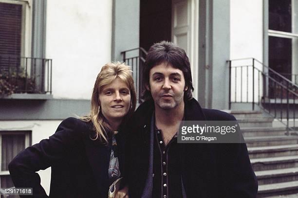 Paul McCartney with his wife Linda circa 1980