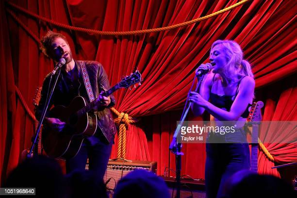 Paul McDonald and Emily Kinney perform at Public Arts on October 11 2018 in New York City