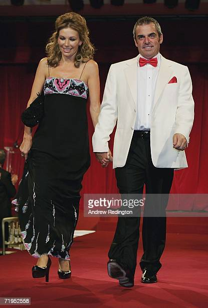Paul McGinley and Alison McGinley walk down the catwalk during the Ryder Cup Gala Dinner at Citywest Hotel and Golf Resort September 20 2006 in...